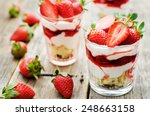 layered dessert with... | Shutterstock . vector #248663158