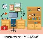 doctor workplace. modern room... | Shutterstock .eps vector #248666485
