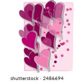 festive sweethearts dancing heart design - stock photo