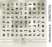 set of crime icons | Shutterstock .eps vector #248670226