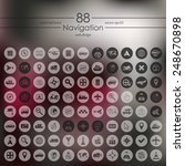 set of navigation icons | Shutterstock .eps vector #248670898