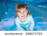 portrait of cute smiling little ... | Shutterstock . vector #248671702