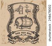 armorial escutcheon contains... | Shutterstock .eps vector #248678002
