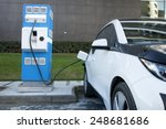 power supply for electric car... | Shutterstock . vector #248681686