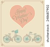 valentine's day card with... | Shutterstock .eps vector #248687902