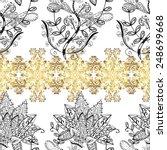 lace black seamless pattern... | Shutterstock .eps vector #248699668
