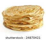pancakes pile against white... | Shutterstock . vector #24870421