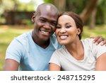 portrait of african couple... | Shutterstock . vector #248715295