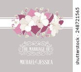 printable marriage invitation... | Shutterstock .eps vector #248721565
