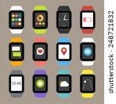vector smart watch icons   Shutterstock .eps vector #248721832
