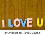 I Love U Letter In Pastel Colo...