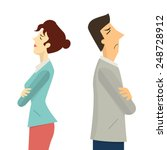 businessman and woman turning... | Shutterstock .eps vector #248728912