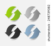 realistic design element  arrow ... | Shutterstock .eps vector #248739382