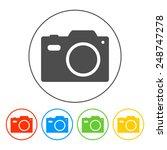 camera   icon. flat illustrator