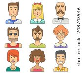 people characters. men and... | Shutterstock .eps vector #248748946