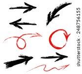 arrows set  hand painted black...   Shutterstock .eps vector #248756155