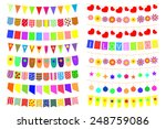 set of festive decorations on... | Shutterstock .eps vector #248759086
