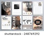 set of design templates for... | Shutterstock .eps vector #248769292
