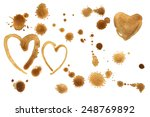 traces of a coffee texture. set ... | Shutterstock .eps vector #248769892