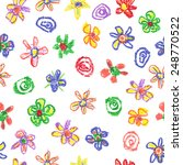 Child's Drawing Of Flowers....