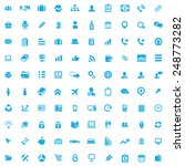 100 company icons  blue on... | Shutterstock . vector #248773282