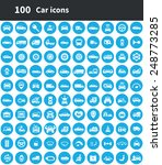 100 car icons  blue circle... | Shutterstock . vector #248773285