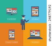 online learning education... | Shutterstock .eps vector #248779192