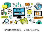 news breaking news daily news... | Shutterstock . vector #248783242