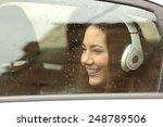 Happy Teenager With Headphones...