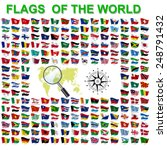 set of flags of world sovereign ... | Shutterstock .eps vector #248791432