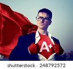strong superhero businessman... | Shutterstock . vector #248792572