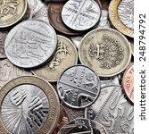 Close Up Of British Coins...