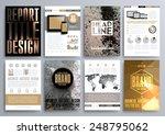 set of design templates for... | Shutterstock .eps vector #248795062