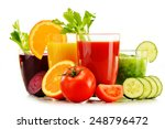glasses with fresh organic... | Shutterstock . vector #248796472