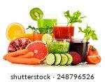 glasses with fresh organic... | Shutterstock . vector #248796526