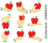 Hand Holding Apple  Health Car...