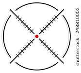 cross hair  reticle  target... | Shutterstock .eps vector #248810002