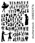 dancing silhouettes set | Shutterstock .eps vector #248832976