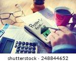 businessman notepad property... | Shutterstock . vector #248844652