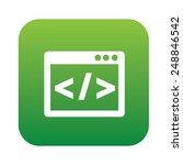 coding on green flat button... | Shutterstock .eps vector #248846542