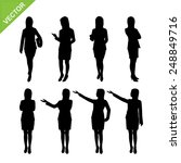 business woman silhouettes...   Shutterstock .eps vector #248849716