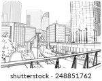 vector illustration of street...   Shutterstock .eps vector #248851762