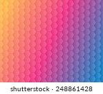 abstract hexagonal honeycomb... | Shutterstock .eps vector #248861428