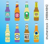 beer bottles set with labels.... | Shutterstock .eps vector #248864842