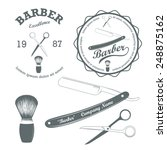 vector set of vintage retro... | Shutterstock .eps vector #248875162