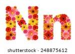 N  Flower Alphabet