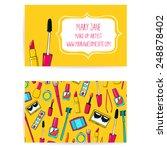 colorful make up artist... | Shutterstock .eps vector #248878402