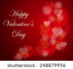 happy valentine's day card with ... | Shutterstock .eps vector #248879956