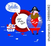 vector illustration of a pirate | Shutterstock .eps vector #248886082