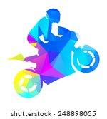 Abstract Vector Moto Racer....